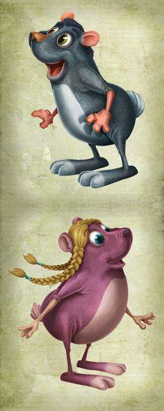 Character Colour by Iolanda Renosto, via Behance