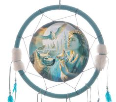 Decorative Mountain Spirit Native American 34cm Dreamcatcher Dreamcatchers are a great way to add colour and design to your home or workplace Made