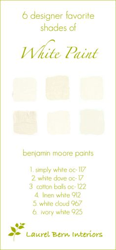 tricks for choosing the best white paint color   white paint