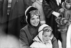 Jackie Kennedy And Her Sons At Gstaad - Jackie And Caroline In Gstaad, Switzerland, January 1966. (Photo by Andre SAS/Gamma-Rapho via Getty Images) via @AOL_Lifestyle Read more: https://www.aol.com/article/entertainment/2017/04/12/jackie-kennedy-onassis-alec-baldwin-date/22036995/?a_dgi=aolshare_pinterest#fullscreen