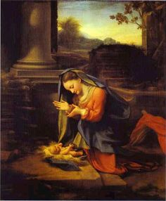 Artist...Correggio Adoration of Child.
