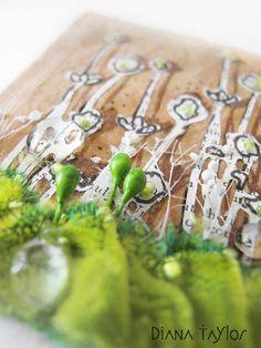 Spring Garden on a teabag - embroidery by Velvet Moth Studio