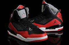 high nike brand sport shoes jordan flight 45 womens size with red grey white