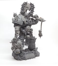 Khârn, also known as Khârn the Betrayer is a Chaos Space Marine of the World Eaters Legion. Khârn is the greatest of all the Champions of Khorne, second only to the Daemon Prince Angron in power. He is the avatar of Khorne, embodying that god's indiscriminate rage and bloodlust.