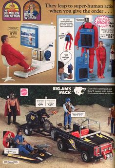 Big Jim's PACK and The Six Million Dollar Man in the Sears Wishbook circa 1976