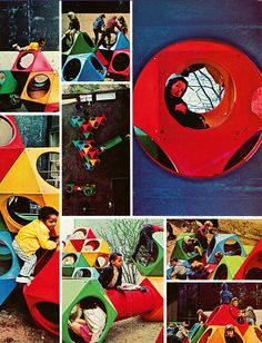 Page from The Instant Playground, a 1969 brochure advertising Richard Dattner's PlayCubes.