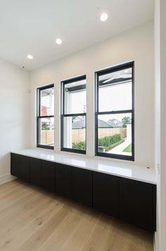 Weather Shiled Windows Jet Black Aluminum Clad Exterior With Primed Wood Interior Hardwood Front Doors