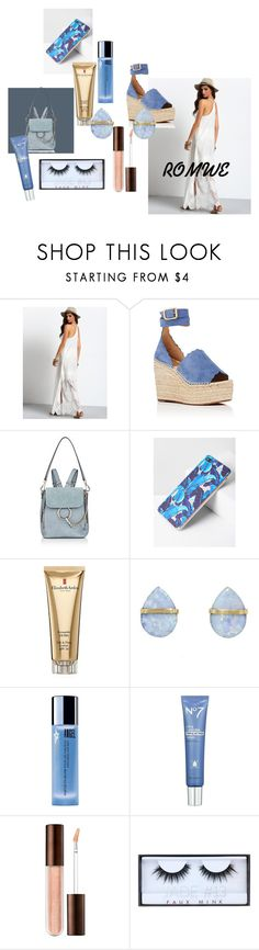 """""""ROMWE"""" by ncoulson223 ❤ liked on Polyvore featuring Chloé, Elizabeth Arden, Melissa Joy Manning, Thierry Mugler and Huda Beauty"""