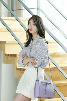 Arab Say A ✿ (suzy beautiful, handsome ) Korean Fashion Trends, Korea Fashion, Kpop Fashion, Asian Fashion, Suzy Bae Fashion, Style Outfits, Fashion Outfits, Asian Woman, Asian Girl