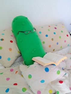 A pickle body pillow.