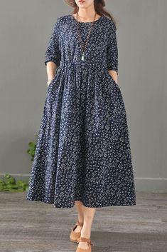 Loose Floral Cotton Linen Maxi Dresses For Women 1527 – Linen Dresses For Women Linen Dresses, Cotton Dresses, Casual Dresses, Fashion Dresses, Maxi Dresses, Cotton Long Dress, Vestidos Vintage, Vintage Dresses, Boho Dress