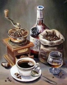 Diamond Painting Kit Сoffee laced with Brandy, Diamond Paint… – Stone House Coffee Love, Coffee Art, Coffee Break, Coffee Shop, Coffee Cups, Espresso Coffee, Decoupage Vintage, Decoupage Paper, Illustration Mode
