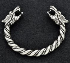 4bd58e67f5a2b Handmade Fenrir Viking Bracelet #1 - Silver Plated