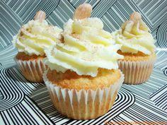 Cupcakes de canela y almendra, cinnamon and almond cupcakes