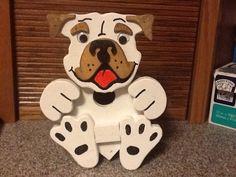 Bulldog birdhouse