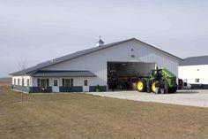 Larry's Farm Shop With Living Quarters » Morton Buildings » 3747
