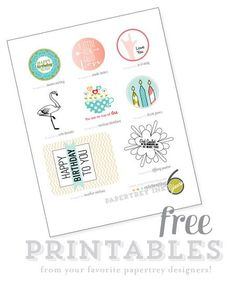 Free printables from the Papertrey ink team