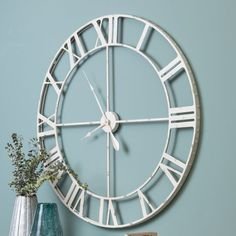 """You'll love the Oversized 39"""" Annency Wall Clock at Wayfair - Great Deals on all Décor & Pillows products with Free Shipping on most stuff, even the big stuff."""