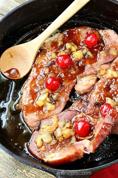 Brown Sugar Ham Steak Recipe takes all the flavors of that holiday ham without all the leftovers! Ham Steak is just the right size for a family of four. Enjoy your favorite holiday ham all year!