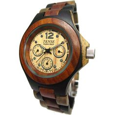 I chose this because I've never seen a wooden watch and this is amazing. The different colours and the face of teh watch help bring the whole watch together.