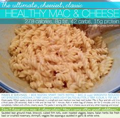 The Ultimate Cheesiest Classic Healthy Macaroni & Cheese