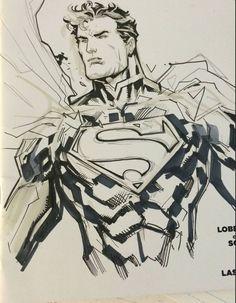 Superman by Ken Lashley Chibi Superman, First Superman, Batman Vs, Superman Stuff, Steel Dc Comics, Superman Pictures, Comic Art, Comic Books, Adventures Of Superman