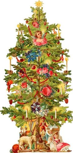 Victorian Christmas tree  → For more, please visit me at: www.facebook.com/jolly.ollie.77