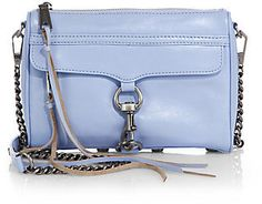 Rebecca Minkoff Mini MAC Convertible Crossbody Bag-- This color of blue and a tad darker are what's in for Spring/Summer 2015!