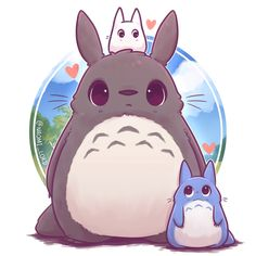 💕✨ did we ever find out what the little ones were called? I don… Totoro! 💕✨ did we ever find out what the little ones were called? I don't remember 😅 My neighbour Totoro is such a sweet movie 💕 Cute Kawaii Drawings, Cute Animal Drawings, Kawaii Art, Kawaii Anime, Kawaii Chibi, Drawing Animals, Cute Chibi, Anime Chibi, Totoro Drawing