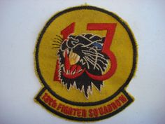 US Air Force 13th FIGHTER SQUADRON Vietnam War Patch - Black Panther ELDRIDGE