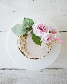This delicious pistachio rose layer cake with a beautiful rose finish is actually my first experiment with pistachio flour!