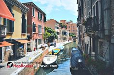 Venice Canal, Italy.   Explore your world with HopRocket   #travel #travelmore #familytravel #vacation #trip