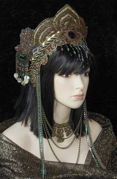 Golden goddess Queen Princess Eygption Fantasy by MIMSYCROWNS