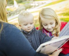 Mother Reading a Book to Her Two Adorable Blonde Children Wearing Winter Coats Outdoors. Crying My Eyes Out, Mother And Child, Kids Wear, Books To Read, Couple Photos, Reading, Children, Photography, Change