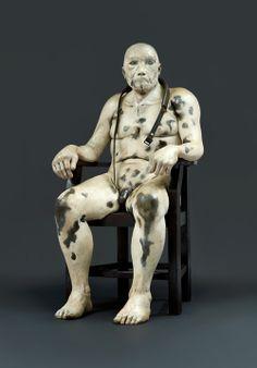 "Jane Alexander - Untitled, from ""The Butcher Boys"" series (mixed media) Augusta Savage, Contemporary African Art, South African Artists, Political Art, Art Fair, Macabre, Figurative Art, Dark Art, Art For Sale"