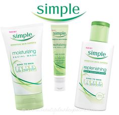 I use the Simple moisturiser and cleansing wipes and they are really good for my skin.
