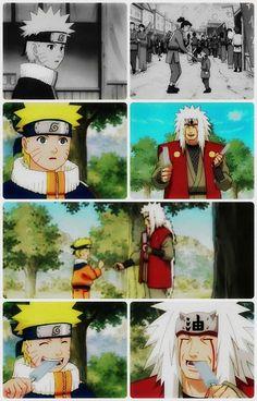Naruto and Jiraiya.