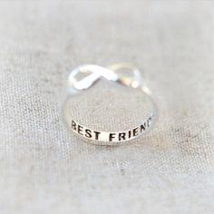 Anillo infinito de mejores amigos en la plata por laonato en Etsy
