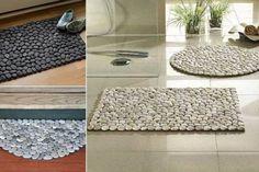 DIY Fußmatte -Wohndeko Ideen selber machen