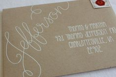 Calligraphy Envelope Addressing Handwritten by 5thFloorDesigns