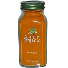 Simply Organic, Turmeric, oz g) iherb Turmeric Tea Benefits, Turmeric Spice, Organic Turmeric, Turmeric Root, Simply Organic, Ground Turmeric, Tomato Juice, Skin Food, Curry Powder