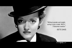 Bette Davis Quote on Acting