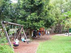 outdoors Cape Byron Rudolf Steiner School - this is my 5 yr olds kinder garden. Its like a wonderland for kids. They even have a waterfall!