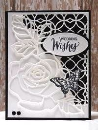 Make It Monday - Stampin' Up! Rose Wonder Wedding Card Peanuts and Peppers Papercrafting: Make It Mo Butterfly Cards, Flower Cards, Stampin Up, Wedding Shower Cards, Wedding Cards Handmade, Engagement Cards, Wedding Anniversary Cards, Stamping Up Cards, Sympathy Cards