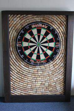 Wine Cork Dartboard Backer  Game Room Décor  by OldDogOriginals