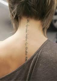"""victoria beckham hebrew tattoo translated to """"I am for my beloved and my beloved is for me who browses among the lilies"""" (Don't think I'd ever get a tattoo, but those are some special words) Bild Tattoos, Love Tattoos, Beautiful Tattoos, Picture Tattoos, Tatoos, Arabic Tattoos, Spine Tattoos, Symbols Tattoos, Hebrew Tattoos"""
