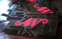 business cards - Look at the nicely done spot-uv varnish, good job!