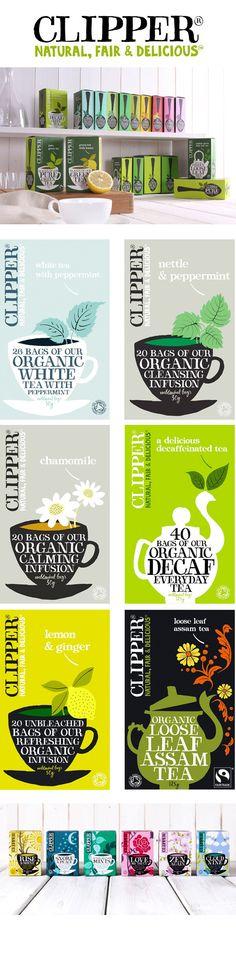 Clipper Tea - awesome pack #packaging #design #teapot #mug #herbs