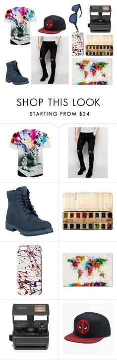 """""""Jace"""" by eliana-zennaro on Polyvore featuring Sik Silk, Timberland, Marc Jacobs, Trademark Fine Art, Impossible, Marvel, Polo Ralph Lauren, men's fashion e menswear"""