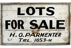Lots for Sale Sign